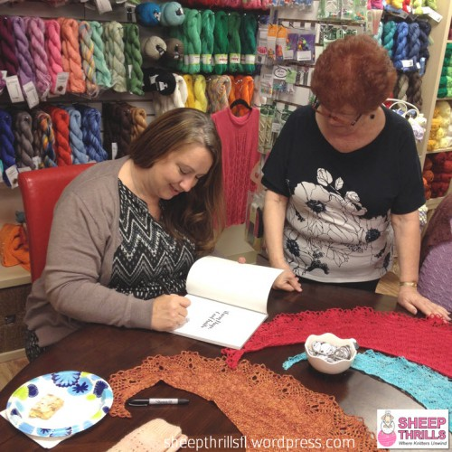 Sheep Thrills Knitting Yarn Shop Broward County 4725 N. University Drive Lauderhill FL (954) 468-5577 @sheepthrillsfl Caissa McClinton @artlikebread Special Event Corrina Ferguson @picnnicknits Book Signing