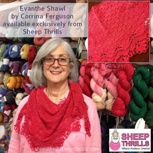 Sheep Thrills Knitting Yarn Shop Broward County 4725 N. University Drive Lauderhill FL (954) 468-5577 @sheepthrillsfl Caissa McClinton @artlikebread Special Event Corrina Ferguson @picnnicknits Evanthe Shawl