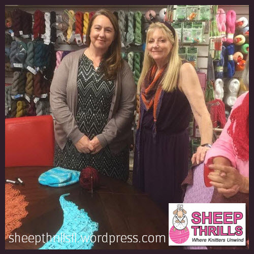 Sheep Thrills Knitting Yarn Shop Broward County 4725 N. University Drive Lauderhill FL (954) 468-5577 @sheepthrillsfl Caissa McClinton @artlikebread Special Event Corrina Ferguson @picnnicknits with Patti